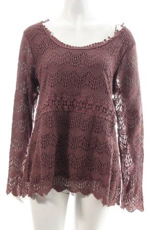 Cream Sweatshirt graulila Spitzen-Optik