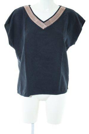 Cream T-Shirt blau Casual-Look