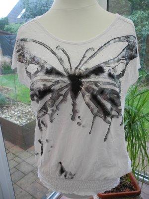 Cream T-Shirt Gr. L (40) NEU mit Metallic-Look