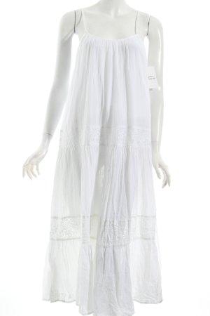 Cream Trägerkleid weiß Boho-Look