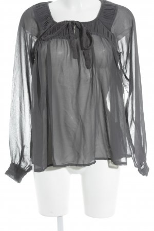 Cream Transparenz-Bluse grau Elegant