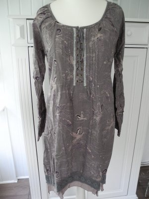 Cream Tunika Kleid Gr. 40 (M/ L) in mittelgrau mit Muster