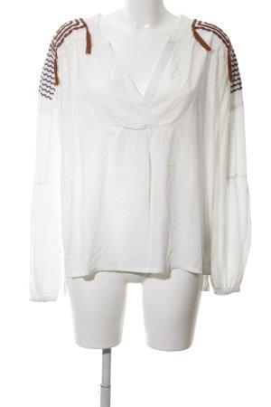 Cream Tunikabluse braun-weiß Casual-Look