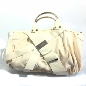 Cream Versace Shoulder Bag