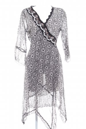 Cream Robe portefeuille motif abstrait Look de plage
