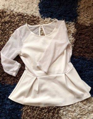 Tally Weijl Mesh Shirt natural white
