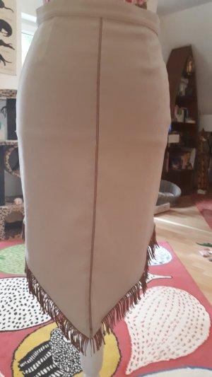 Fringed Skirt light brown-oatmeal