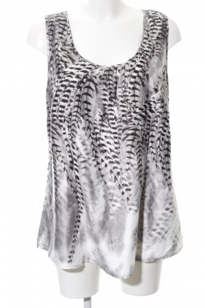 Creation L. Sleeveless Blouse abstract pattern casual look