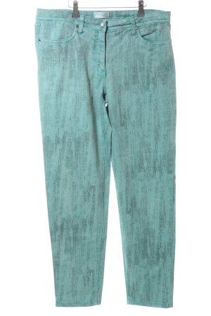 Creation L. Slim jeans turkoois extravagante stijl