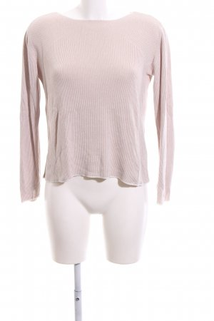 Creation L. Knitted Sweater nude-white striped pattern casual look