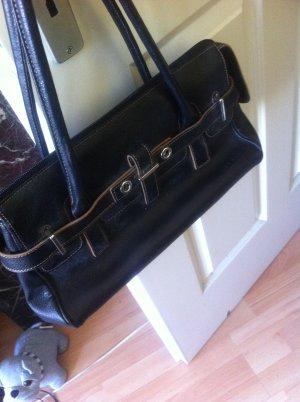 Credi, schlicht, schwarz, chic, glattleder-Tasche (Ledertasche) elegant