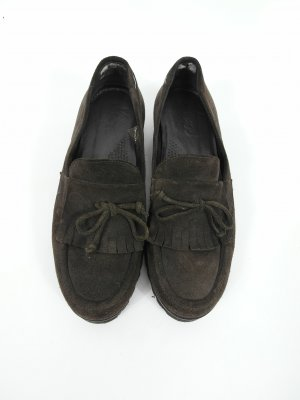 Monks dark brown-black leather