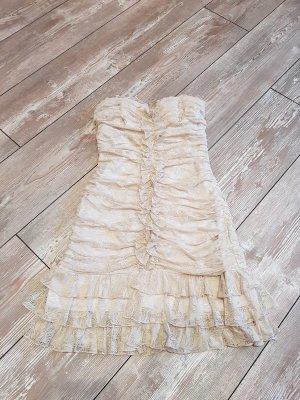 Creme Bandeau Mini Kleider