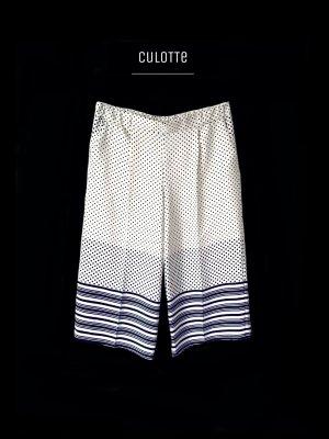 Topshop Pantalone culotte nero-beige chiaro