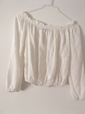 Creme farbenes Cropped Top