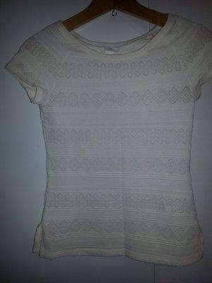 Creme Farbenes Shirt von H&M