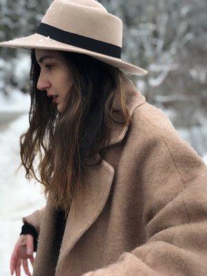 Accessorize Chapeau en laine crème-rose chair