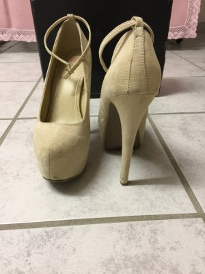 Creme High Heels Größe 38