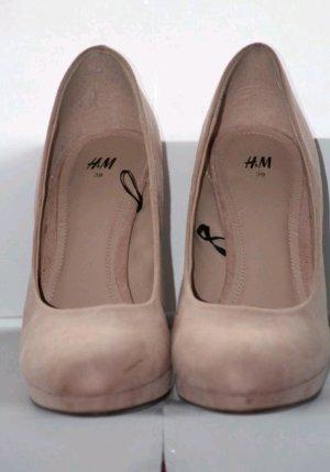 creme - nude High Heels