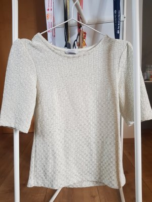H&M Knitted Jumper natural white-cream cotton