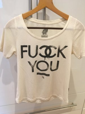 "Creme T-Shirt ""Fuck You - Fashion sucks"""