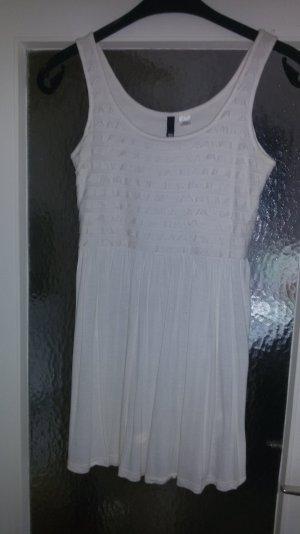 Creme weißes Kleid , kurz , H&M