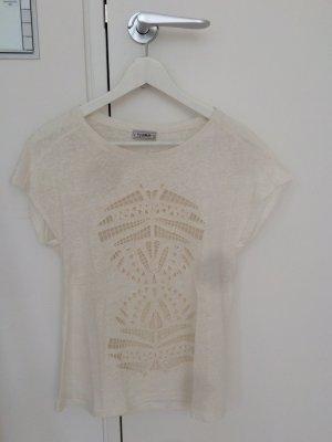 Creme-weißes T-Shirt von Pull & Bear