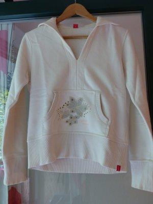Cremefarbender Kapuzenpullover / Kapuzensweater