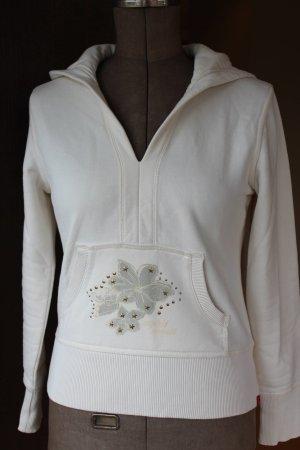 Cremefarbender Kapuzenpullover / Kapuzensweater / Hoodie