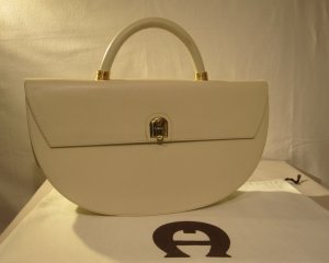Aigner Carry Bag cream-oatmeal leather