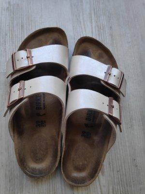 Birkenstock Comfort Sandals natural white-cream leather