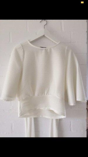 Concept Reserved Maglietta aderente bianco sporco