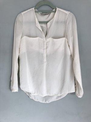 Zara Camicetta a maniche lunghe bianco sporco