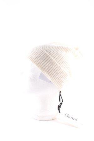 Ganni Cappello a maglia crema Cachemire