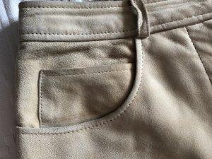 Cremefarbene Lederhose von Louis Feraud / Contraire