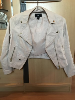 Cremefarbene Lederjacke von H&M