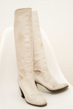 Marc Jacobs High Boots cream leather