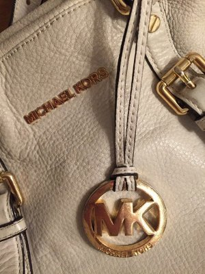 Michael Kors Borsa shopper bianco-bianco sporco Pelle