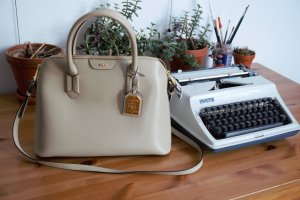 Cremefarbene Ralph Lauren Handtasche
