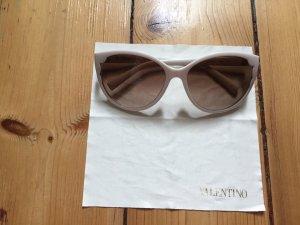 Cremefarbene Sonnebrille Valentino