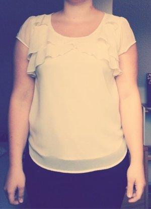Cremefarbene Vero Moda Bluse
