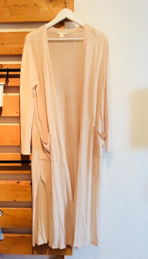 Cremefarbener langer Cardigan H&M