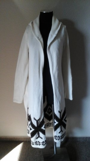Mexx Knitted Coat natural white cotton
