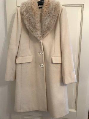 Le trou d'aiguille Cappotto in lana bianco sporco-crema