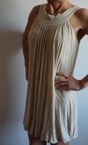vestido de globo crema-beige claro Viscosa