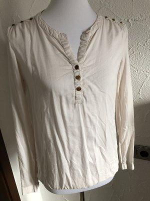 cremefarbenes Blusenshirt / Shirt langarm von Blind Date - Gr. 34