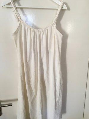 Cremefarbenes Kleid mit geflochtenen Trägern
