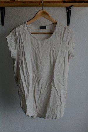 Cremefarbenes Longfit-Shirt