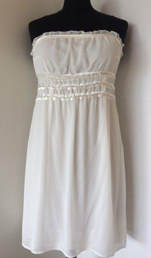 Cremefarbenes Schulterfreies Kleid