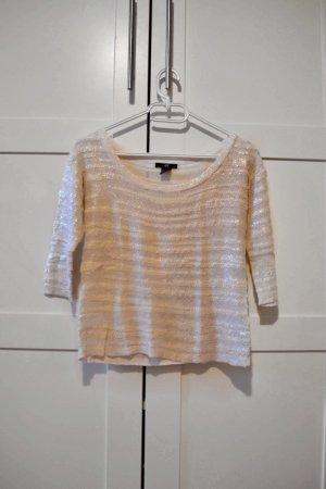 Cremefarbenes Shirt mit 3/4 Ärmeln von H&M in XS